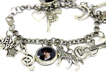 Bracelet with resin pendants * ERMAL META *