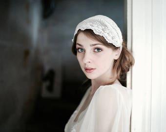 Bridal Headband, Vintage Lace Headband, Bridal Boho Headband, Lace Headband, Wedding Headpiece, Up-cycled Folklore Costume