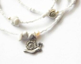 African Waist Beads, Orisha Obatala Waist Beads, White Waist Beads,  Howlite Waist Chain, African Jewelry, Gemstone Waist Beads