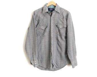 Vintage Men's Plaid Shirt with Pearl Snap Buttons // Vintage Plaid Snap Front Shirt // Vintage Western Style Plaid Shirt