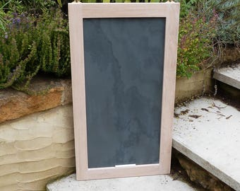 Oak framed slate board - chalk board -limed oak