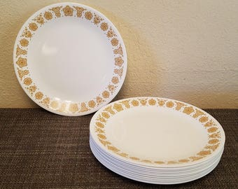 Classic Vintage Corning Ware/Corelle Butterfly Gold Dinner Plates