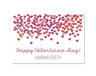 Confetti Hearts Valentine Classroom Card