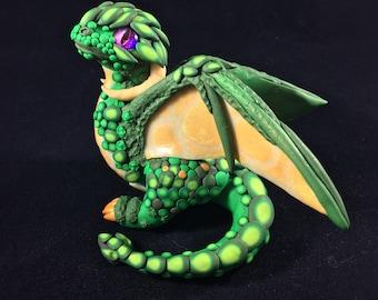 Green Baby Wyvern Sculpture glow in the dark