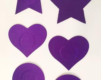 Purple Satin Pasties