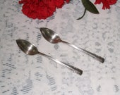 "2 ALVIN Sterling Pat. 1939 ""Chapel Bells"" 6 Inch Vintage Grapefruit Spoons / Free US shipping"