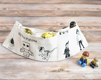 Mini figures Utility Belt, Small Toy Belt, Mini figures storage, Minifigures organiser, boys belt, boys birthday gift, stocking stuffer