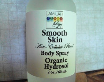 Smooth Skin Anti-Cellulite Hydrosol Body Spray, Toning, Firming, 100% Organic, Detoxing, Circulatory Support, Skin Tightening, Cellulite