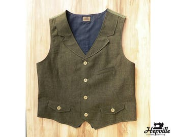 Bespoke Irish Linen Classic Vest