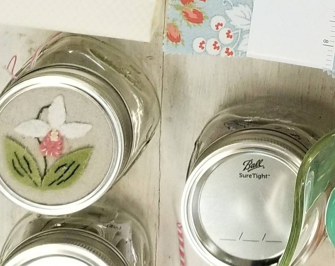 Lady Slipper jar kit...designed by Mickey Zimmer for Sweetwater Cotton Shoppe