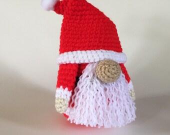 Santa Gonk - Hand Crocheted Santa Gonk  -  Christmas doll - Santa Amigurumi