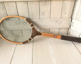 Vintage tennis racket racquet wood Davis Imperial 1960s- free shipping US