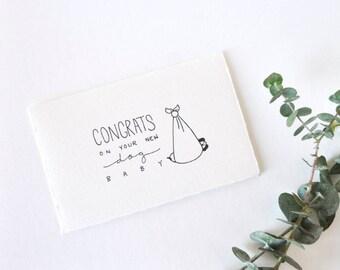 Funny New Dog Card - Congratulations - Dog Baby