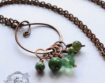Stitch Marker Necklace Sets for Top Down Knitting on the Go.