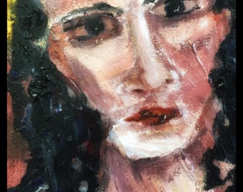 Commission an acrylic Painting: Shaman Portrait for You and Your Spirits