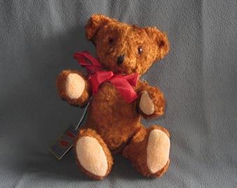 "Vintage Brown Teddy Bear NEW 9"" Woolnough New York USA"