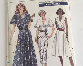 90s Vogue Dress Pattern 1990s Wrap Dress Pattern 7722 UNCUT Sizes 18 20 22