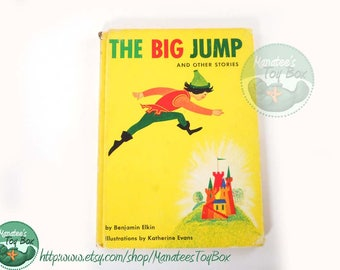 The Big Jump Vintage Childrens Book by Benjamin Elkin Hardcover 1958