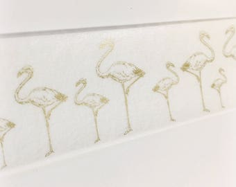 SALE Gold Foil Flamingos Delicate Birds Fancy Gold Flamingo Washi Tape 5.5 yards 5 meters 30mm