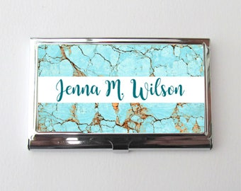 Personalized Card Case, Business Card Holder, New Business Gift