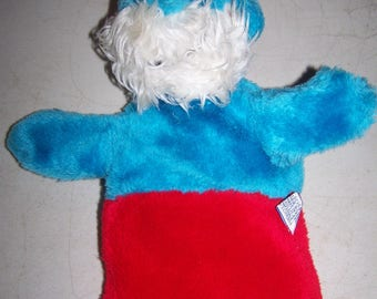 Vintage 1981 Papa Smurf Hand Puppet