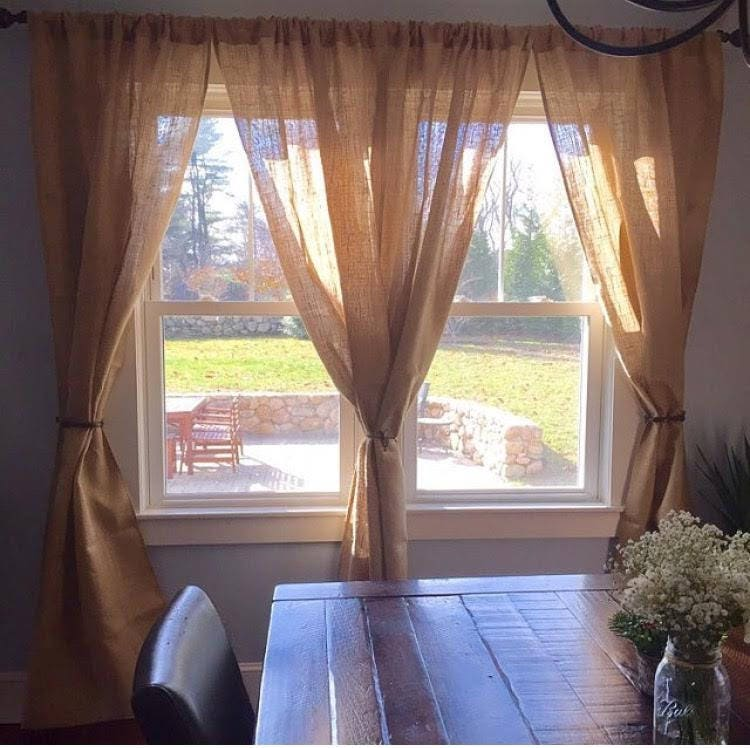 4 Burlap Curtains 84 No Odor Burlap Panels Rustic Home