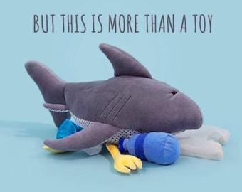 Pollutoy, Mark the Shark, Stuffed Sharkey, Educational Plush toy