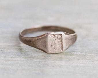 Singet Pinky Finger Ring - Sterling Silver - Ring Size 5.5