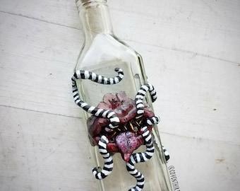 Poison Pal - sculpted monster mouth on vintage glass bottle