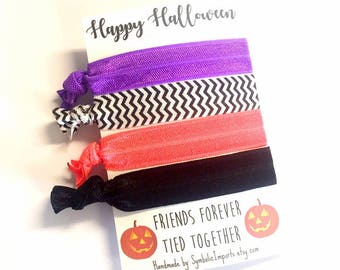 Halloween Favor, Halloween Party Favor, Halloween Gift, Halloween Pumpkin Favor, Halloween Hair Tie Favors, Hair Tie Favors, Party Favor