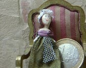 Reserved for Lisa. Tiny doll for dollhouse