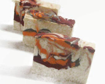 Autumn Glow  Handmade Soap, Cold Process Soap, Unisex Soap Bar, Rich Warm Autumn Blend