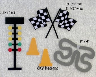 Die Cut Racing Race Track Scrapbook Page Embellishments for Card Making Scrapbook or Paper Crafts