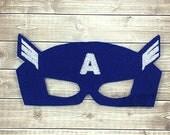 Captain America Mask - Captain America Costume - Captain America Masks - Captain America Birthday Party Favors - Superhero Mask