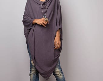 Grey Sweater Dress / Batwing Tunic / Top Dress : Urban Chic Collection no.8
