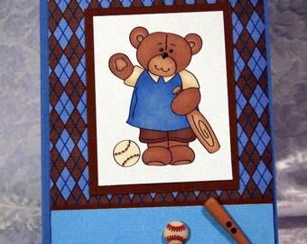 Teddy Bear Baseball Card  20170144