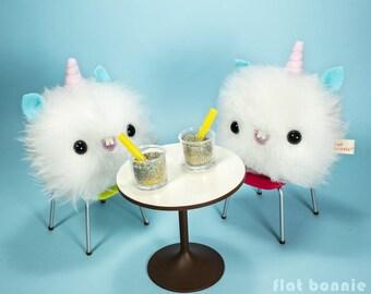 Plush Unicorn Baby - Kawaii unicorn stuffed animal - Unicorn plush - Cute unicorn soft toy doll - Unicorn bag charm - by Flat Bonnie