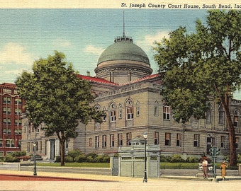 South Bend, Indiana, St. Joseph County, Court House - Vintage Postcard - Postcard - Unused (NNN)