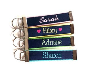 Any Name Personalized Key Fob!  Your favorite color available!