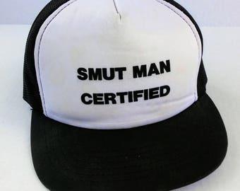 Weird 1980's Smut Man Certified trucker hat