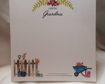 Personalized Gardener With a Green Thumb Notepad