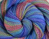 Multi-skein Self Striping Handspun Yarn, Fine Fingering weight - KALEIDOSCOPE EYES - Ultrafine 15.5μ Merino wool, 1010 yds, gift for knitter