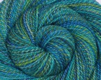 Luxury Handspun Yarn - SEAFARER'S VOYAGE - Handpainted Merino/ Bamboo/ Silk, 2 ply DK weight, 300 yards