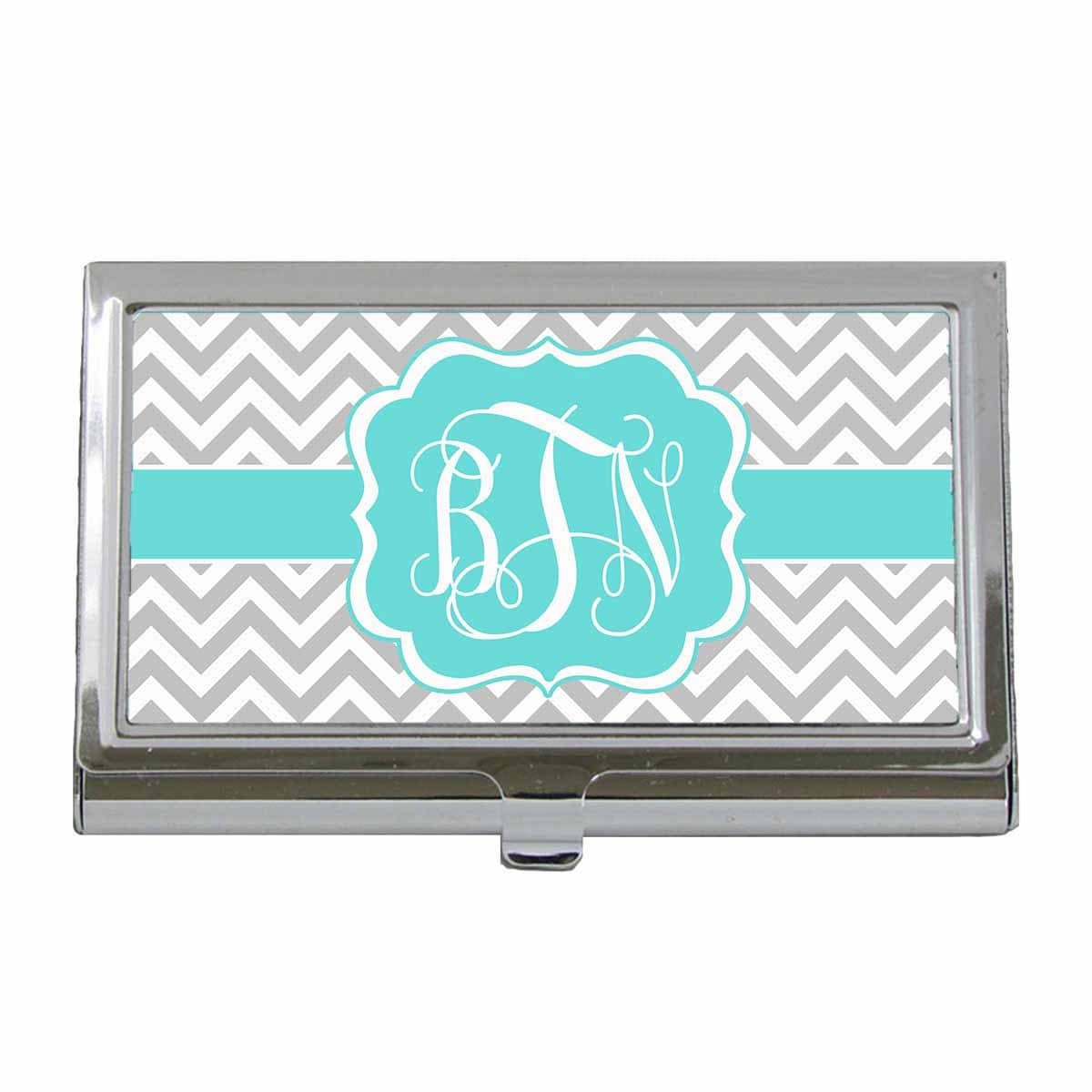 Monogram Gift - Business Card Case - Monogram Custom Business Card ...