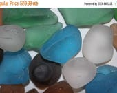 10% OFF 2 lbs) Large Sea Glass, sea glass for ocean wedding tabletop decor, sea glass for beach wedding decor, mixed colors sea glass