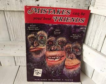 Vintage book Mistakes Can Be Your Best Friends Walter Foster art instruction 1960s- free shipping US