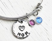 Mom Bracelet Personalized, Mothers Bracelet, Mom Birthstone Bracelet, Gift for Mom, Gift for Her, Swarovski Birthstones, Mothers Day Gift