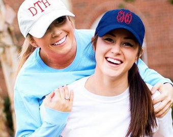 Monogrammed Navy Baseball Hat, Monogrammed Navy Baseball Cap, Womens Baseball Hat, Ladies Baseball Cap,Embroidered Hat,Personalized Navy Hat