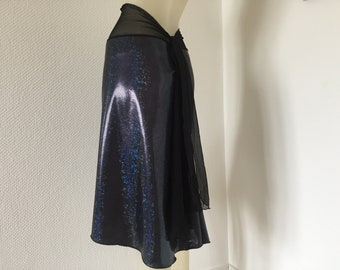 Metallic Snake Print Argentine Tango & Salsa Skirt US 4 and 6 Eu 34/36 Milonga Dance Wear amazing  Tango Jupe adorable Robe