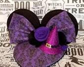 Purple HalloweenTime FascinEar™ Mouse Ear Fascinator